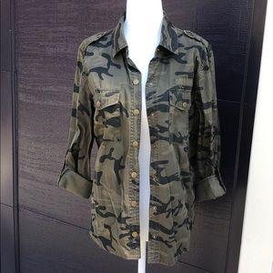 NWOT Camo button down shirt/jacket